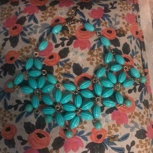 Anthropologie Turquoise Bib Necklace
